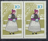 DDR 1353 postfrisch waagrechtes Paar