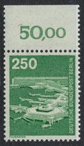 BERL 671 postfrisch mit Bogenrand oben