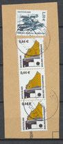 BRD 2307+3x2298 gestempelt auf Briefstück [2]