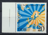 DDR 2069 postfrisch mit Bogenrandm links