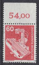 990 gestempelt mit Bogenrand oben (BRD)