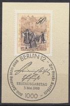 BERL 813 mit Ersttagssonderstempel