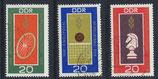 DDR 1491-1493 gestempelt