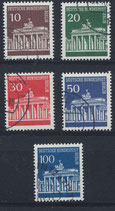 BERL 286-290 gestempelt