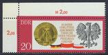 DDR 1591 postfrisch mit Eckrand links oben