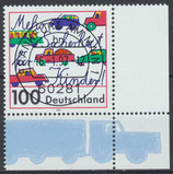 1897 gestempelt Eckrand rechts unten (BRD)