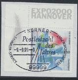 BRD 2042 gestempelt auf Briefstück mit Eckrand links oben