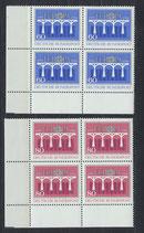 BRD 1210-1211 postfrisch Viererblocksatz mit Eckrand links unten