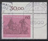BRD 1022 gestempelt mit Eckrand rechts oben