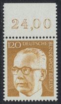 BERL 395  postfrisch mit Bogenrand oben