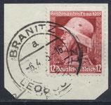 DR 570 gestempelt auf Briefstück