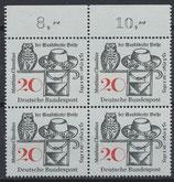 BRD 462 postfrisch Viererblock mit Bogenrand oben