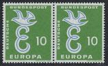 295 postfrisch waagrechtes Paar (BRD)