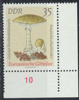DDR 1939 postfrisch mit Eckrand rechts unten
