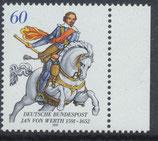 BRD 1504 postfrisch mit Bogenrand rechts