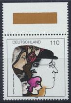 BRD 1972 postfrisch mit Bogenrand oben