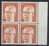 BRD 639 postfrisch Viererblock mit Bogenrand rechts