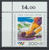 BRD 1720 postfrisch Eckrand links oben (RWZ 14,00)