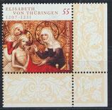 BRD 2628 postfrisch mit Eckrand rechts unten