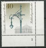 604  postfrisch Eckrand rechts unten mit Formnummer 2 (BERL)