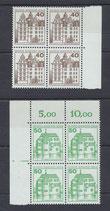 BERL 614-615 postfrisch Viererblöcke mit Bogenränder