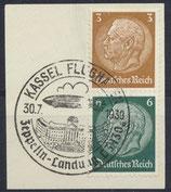 DR S151 (513+516) gestempelt auf Briefstück