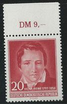 517 postfrisch mit Bogenrand oben (RWZ 9,00) (DDR)
