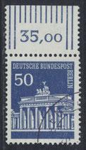 BERL 289 gestempelt mit Bogenrand oben