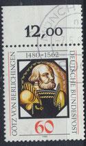 BRD 1036 postfrisch mit Bogenrand oben