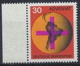 BRD 545 postfrisch mit Bogenrand links