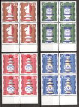 435-438 postfrisch Vierblocksatz mit Bogenrand unten (BERL)