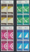 BRD 587-590 postfrisch Viererblock mit Bogenrand oben