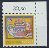 BRD 1066 postfrisch mit Eckrand rechts oben