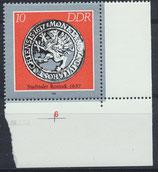 DDR 3040 postfrisch mit Eckrand rechts unten
