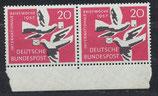 BRD 276 postfrisch waagrechtes Paar  mit Bogenrand unten