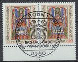 BRD 1045 gestempelt waagrechtes Paar mit Bogenrand unten