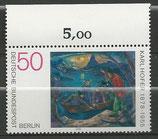 572  postfrisch  mit Bogenrand oben (RWZ 5,00) (BERL)