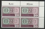 BRD 482 postfrisch Viererblock mit Eckrand rechts oben