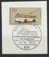 BRL 447 gestempelt auf Briefstück