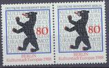 BERL 800 postfrisch waagrechtes Paar
