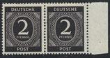 912 postfrisch waagrechtes Paar mit Bogenrand rechts (ABGA)