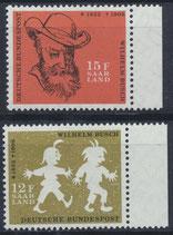 SAAR 429-430 postfrisch mit Bogenrand rechts