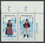 1074-1075 postfrisch Zusammendruck Echrand oben rechts (DDR)