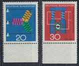 BRD 521-522 postfrisch mit Bogenrand unten