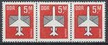 DDR 2967 postfrisch waagrechter 3er-Streifen