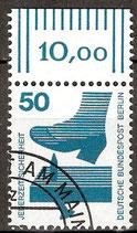 408 gestempelt Bogenrand oben (RWZ 10,00) (BERL)