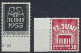 BRD 110-111 postfrisch mit Bogenränder