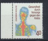 BRD 1089 postfrisch mit Bogenrand links