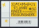 BRD 3582 postfrisch mit Eckrand links unten