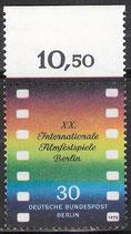BERL   358 postfrisch mit Bogenrand oben (RWZ 10,50)
